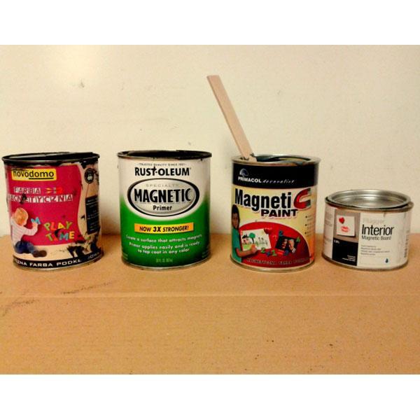 Test farb magnetycznych marki Rust-Oleum, Flugger, Novodomo (Castorama), Primacol Unicell (Leroy Merlin)